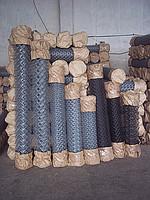 Сетка Рабица черная (60х60)   1,5х10  рулон Украина, купить, заказать, Херсон, низкая цена, недорого, магазин, интернет-магазин